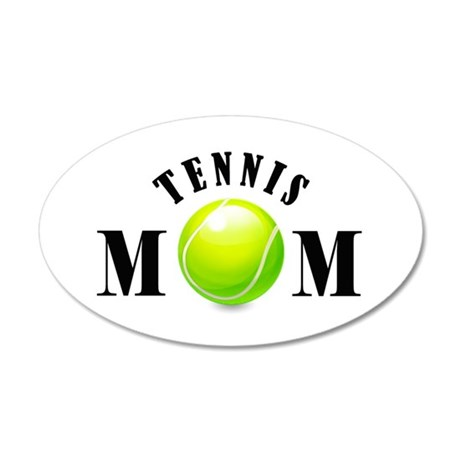 Tennis Mom (bold) 38.5 x 24.5 Oval Wall Peel
