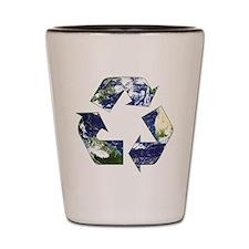 Recycling Symbol Shot Glass