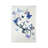 Blue Butterflies Rectangle Magnet (100 pack)