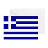 Greek Flag Greeting Cards (Pk of 10)