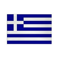 Greek Flag Rectangle Magnet