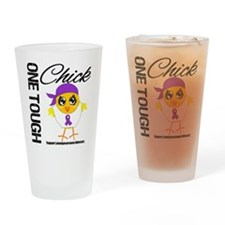 Leiomyosarcoma OneToughChick Drinking Glass