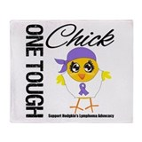 Hodgkin's Lymphoma OneToughChick Throw Blanket