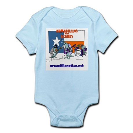 armadillos with beards Infant Bodysuit