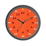 Crazy Bright Red Hours & Minutes Clock