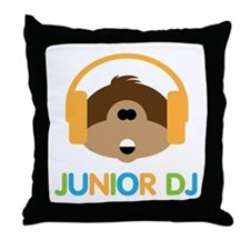 Junior Dj - Monkey - Throw Pillow