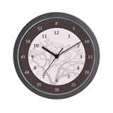 Hours &amp;amp; Minutes wall clock with tree image