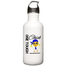 Colon Cancer One Tough Chick Water Bottle