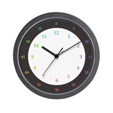 Rainbow Colors Hours & Minutes Clock