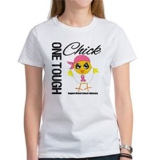 Breast Cancer One Tough Chick Tee