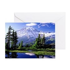 Mt Raineer National Park Greeting Card