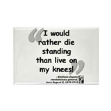 Zapata Standing Quote Rectangle Magnet (100 pack)