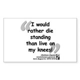 Zapata Standing Quote Decal