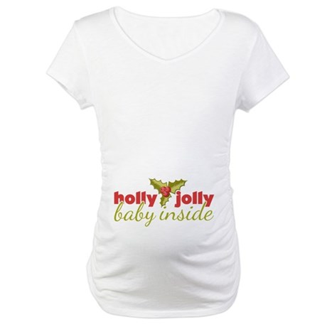 Holly Jolly Baby Inside Maternity T-Shirt