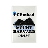 MOUNT HARVARD 14,420' Rectangle Magnet