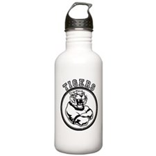Tigers Team Mascot Graphic Water Bottle