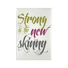 Strong is the New Skinny - Sc Rectangle Magnet (10