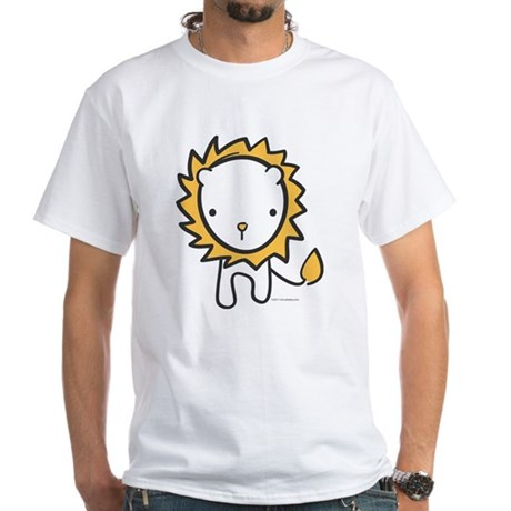 Cuddly Lion White T-Shirt