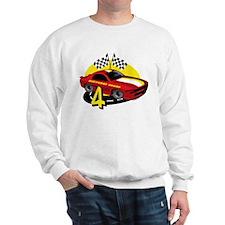 Race Car 4th Birthday Sweatshirt