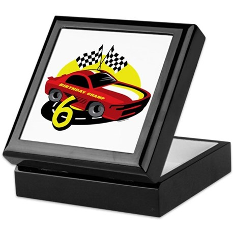 Race Car 6th Birthday Keepsake Box