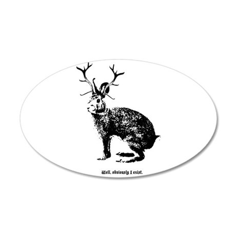 Jackalopes exist 38.5 x 24.5 Oval Wall Peel