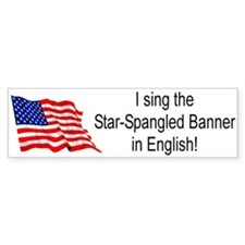 National Anthem Bumper Bumper Sticker