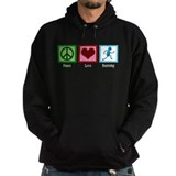 Peace Love Run Hoodie