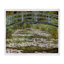 Claude Monet Throw Blanket