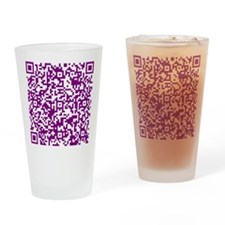 Funny Qrcode Drinking Glass