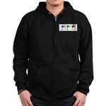 Eat sleep knit Zip Hoodie (dark)