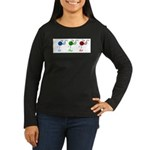 Eat sleep knit Women's Long Sleeve Dark T-Shirt