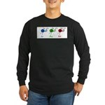 Eat sleep knit Long Sleeve Dark T-Shirt