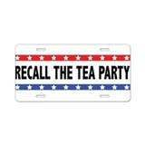 Recall The Tea Party Aluminum License Plate