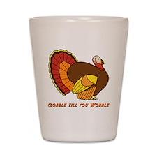 Thanksgiving Gobble Shot Glass
