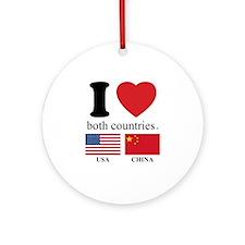 USA-CHINA Ornament (Round)