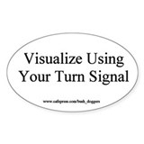 Visualize Using Your Turn Signal Oval Decal