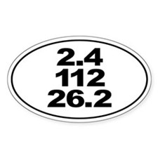 Ironman Triathlon Distances Decal