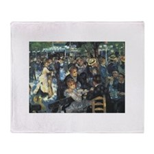 Renoir Moulin Throw Blanket