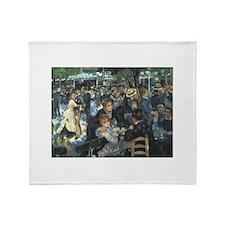 Renoir Moulin Throw Blanket