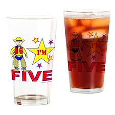I'M FIVE Drinking Glass