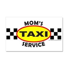 MOM'S TAXI SERVICE Car Magnet 20 x 12