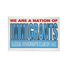 Immigrants club Rectangle Magnet (10 pack)