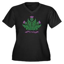 Cute Scottish Women's Plus Size V-Neck Dark T-Shirt