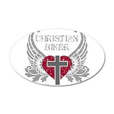 CHRISTIAN BIKER 22x14 Oval Wall Peel