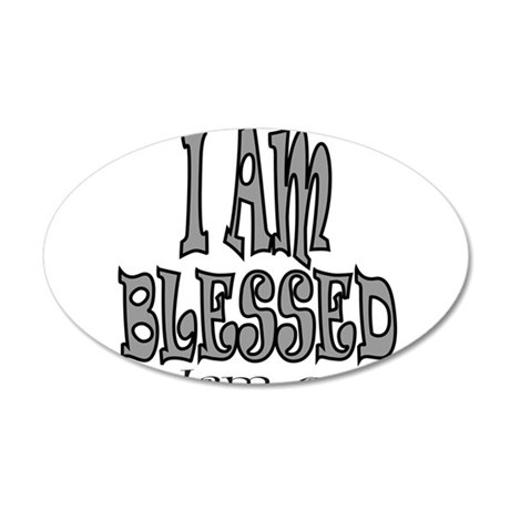 I AM BLESSED 38.5 x 24.5 Oval Wall Peel