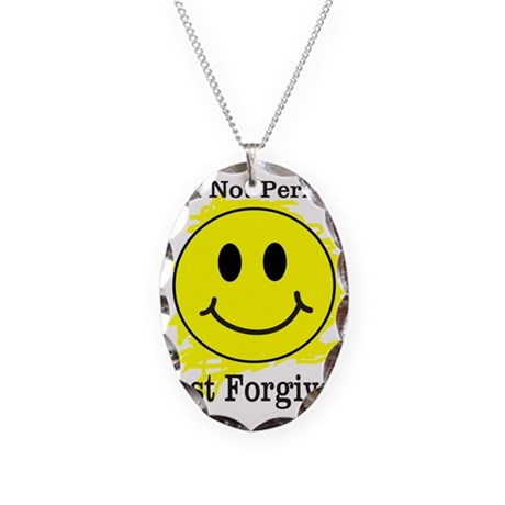 JUST FORGIVEN Necklace Oval Charm
