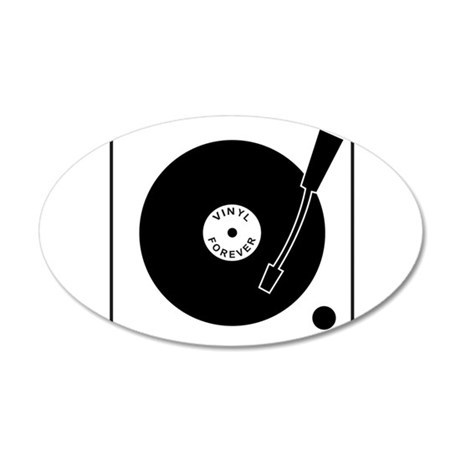 VINYL RECORD 38.5 x 24.5 Oval Wall Peel
