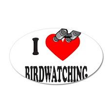 I HEART BIRDWATCHING 22x14 Oval Wall Peel
