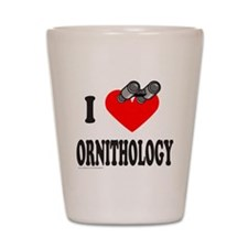 I HEART ORNITHOLOGY Shot Glass