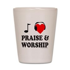 I HEART PRAISE & WORSHIP Shot Glass